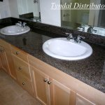 ensuite with tropical brown granite